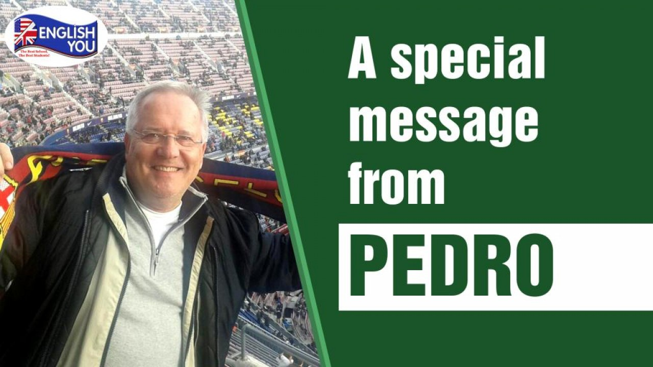 A special message from Pedro